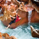 Bouldering, Rio Baker style: Timmy O'Neill found unique spots to play. Photo: James Q. Martin