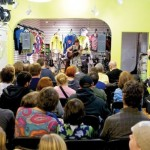 Chain of Fools: The bike shop venue is packed. Photo: Stephen Regenold