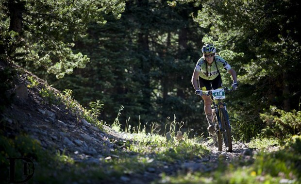 Sonya racing Stage 3 of the Breck Epic. Photo from Devon Balet