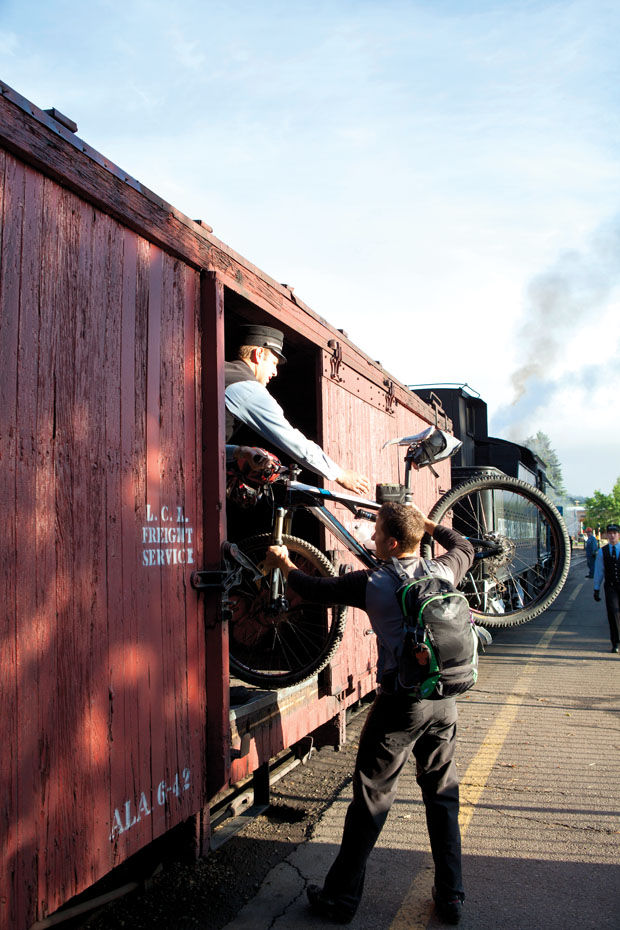Boarding Pass: The adventure begins with a narrow-gauge ride. Photo: Jen Judge