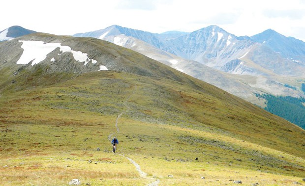 Mountain Home: Finding solace on Breck's Wheeler Trail. Photo: Devon O'Neil