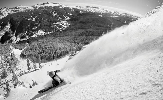 Open Season: Matt Luzcow has Vail all to himself. Photo: Jeff Cricco
