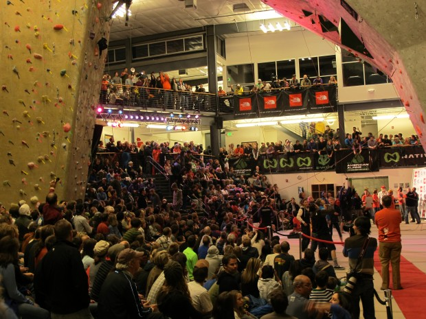 Movement Climbing + Fitness filled to the brim with eager fans.