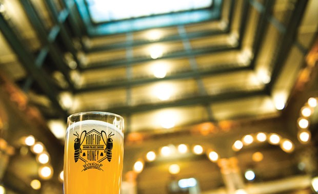 Beer in a Hive: A honey brew at the Brown Palace. Photo: Steve Zdawczynski/steve-z.com