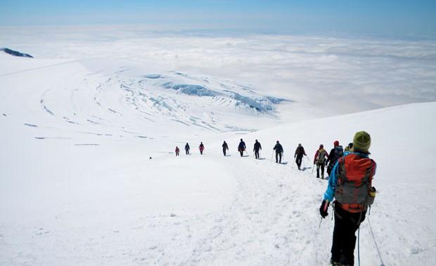 Nordic Vortex: Descending from the top of Iceland. Photo: Doug Schnitzspahn