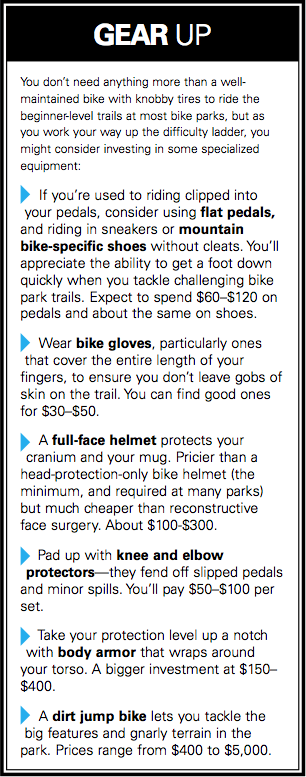 Gear for the bike park