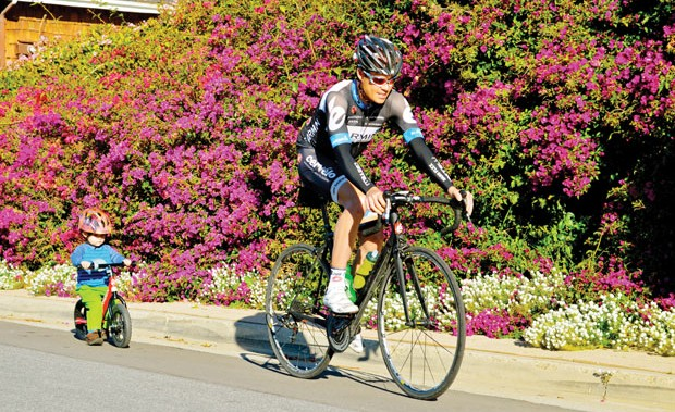 local hero: danielson makes it a priority to give back to young riders and the community.