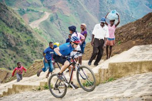 Steep climb in Haiti