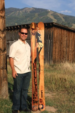 Founder George Danellis with CU Skis