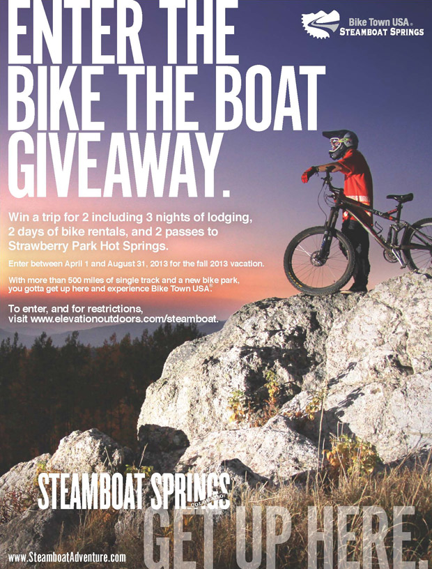 Steamboat Bike the Boat Giveaway