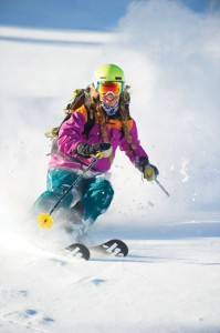 Home Style: She has graced Cosmopolitan, but Quitiquit's most at ease in her Utah powder. Photo: Scott Markewitz/ scottmarkewtiz.com