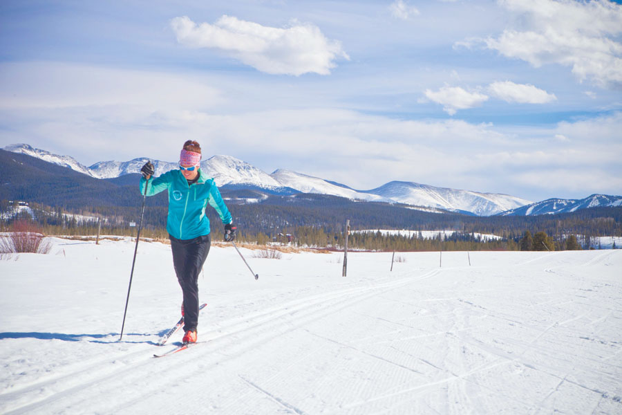 Exorcise with Exercise: Nordic bliss at Devil's Thumb. Photo courtesy Devil's Thumb Ranch