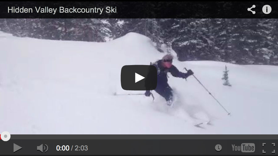 EOTV Two-minutes of Bliss: Hidden Valley Ski