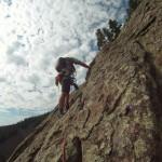 Short roping the East Slabs in Eldorado Canyon