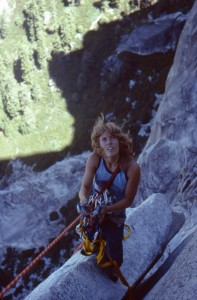 Lynn hill on Half Dome. Photo Charlie Row