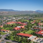 Aerial photograph of Western State Colorado University campus.