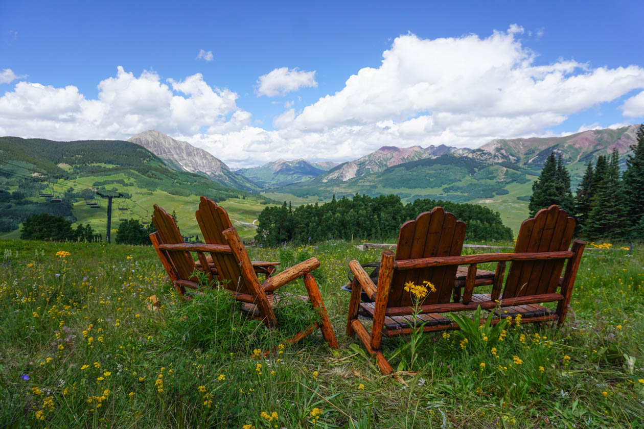 View from Ten Peaks, Crested Butte Mountain Resort. Photo Courtesy of Allen Smith/Crested Butte Mountain Resort.