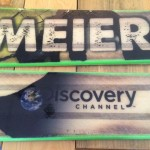 Meier handcrafted a special pair of skis in honor of the Discovery Channel's visit.