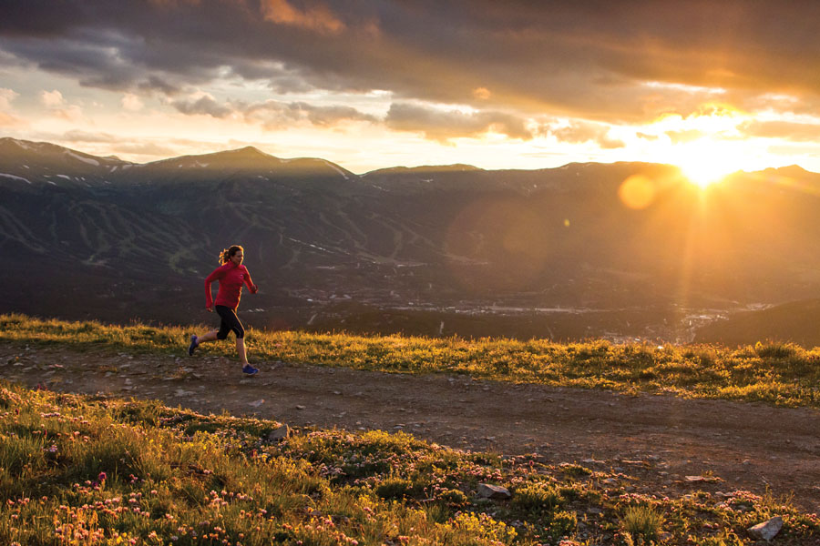 Helen Cospolich at sunset in the Colorado Rockies in Breckenridge. By  Liam Doran.
