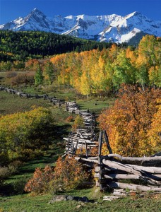 Beautiful fall colors in Ouray. Photo courtesy Nature's Finest Images