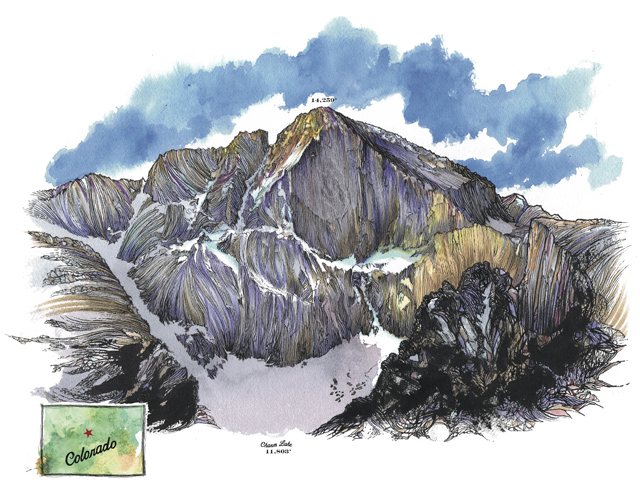 Jer Collins on Longs Peak