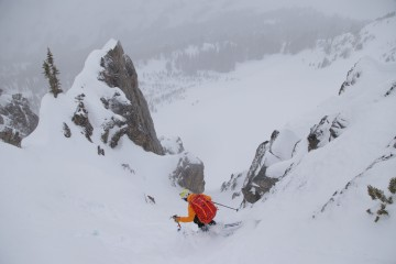 Brody Leven doing his thing in Idaho's Sawtooths