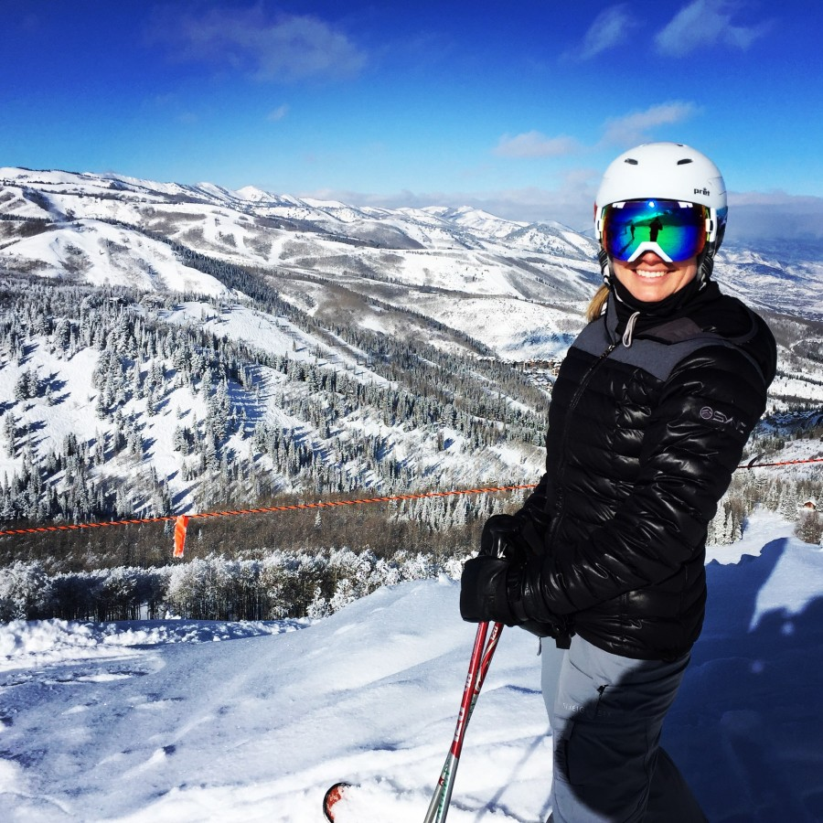 Kim Fuller skiing Deer Valley.