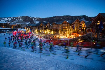 The Audi Power of Four Race brought endurance athletes from all over the world to compete on Aspen's world-famous slopes. Photo by Jeremy Swanson.