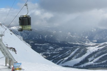 The tram at Big Sky, photo by Glenniss Indreland.