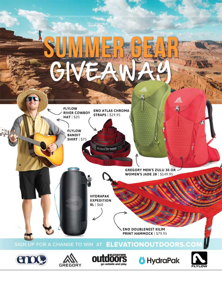 Summer Gear Giveaway - Elevation Outdoors Magazine