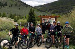 mountain bike group LOGE Breckenridge